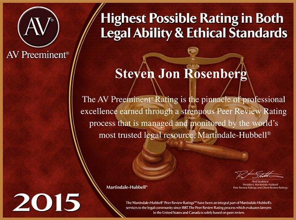 Steven Rosenberg - Highest Possible Rating